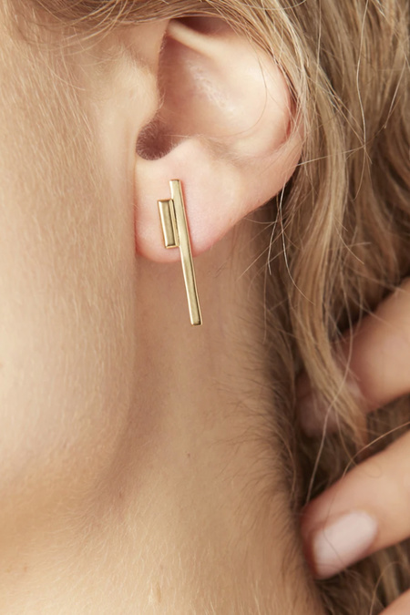 LAUSANNE Golden Gem Earrings - Gold