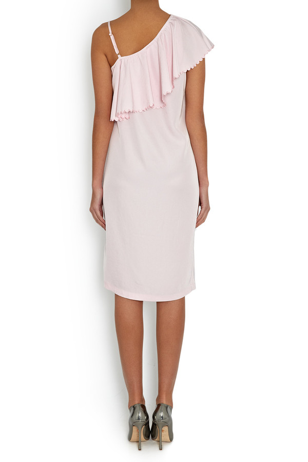 Rodebjer One-Shouldered Wepet Dress Frosty Pink