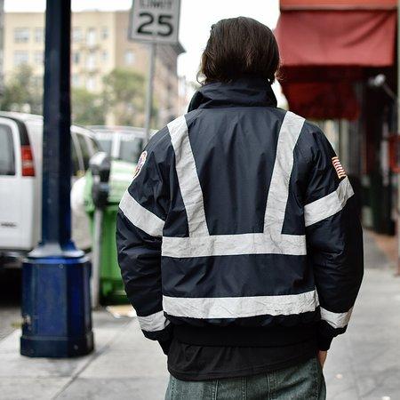 Vintage Spiewak Hi Viz Fire Dept Jacket - black
