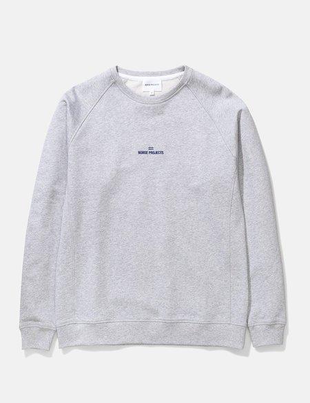 Norse Projects Ketel Norse Projects Wave Logo Sweatshirt - Light Grey Melange