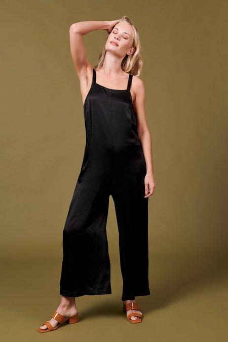 Whimsy + Row Isabella Jumpsuit - Shiny Black