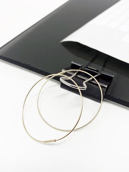 Saskia Diez Wire Earrings No. 2 Hoop - 18k Gold