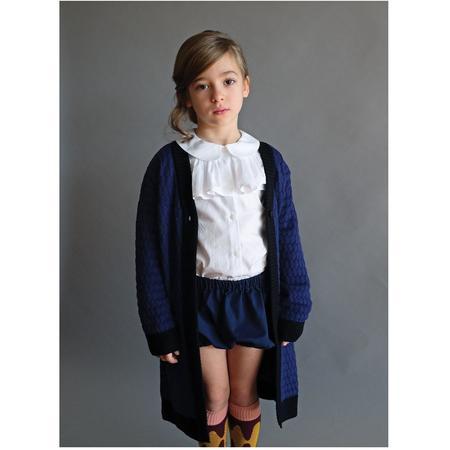 kids wolf & rita camila long cardigan - blue/black