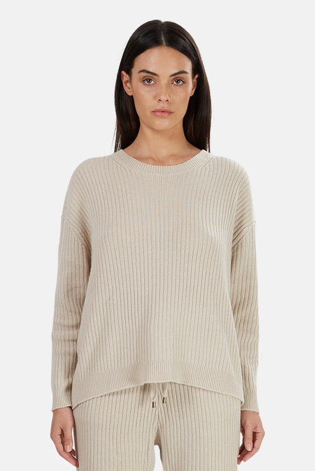 Tile Club Evelyn Ribbed Cashmere Sweater - Cream