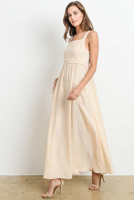 Six Crisp Days Florina Maxi Dress - Beige