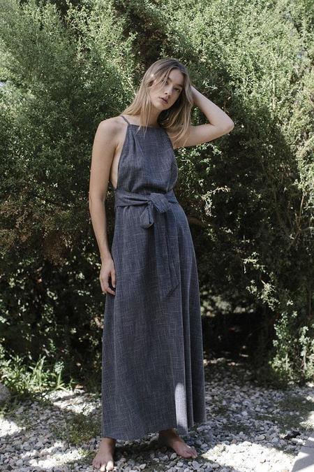 Six Crisp Days Kalyma Dress - Charcoal
