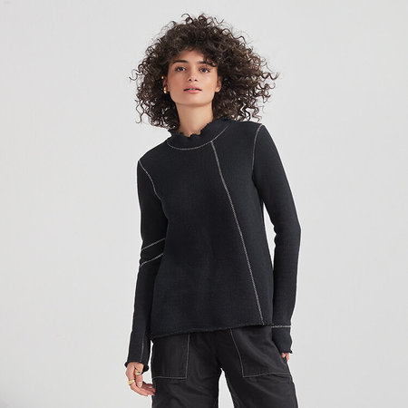 Veronique Miljkovitch Naomie top - black