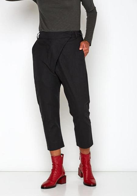 MAKS Baggy Pants - Black/Olive Green
