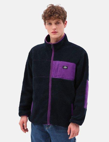 Dickies Red Chute Sherpa Zip Through sweater - Dark Navy