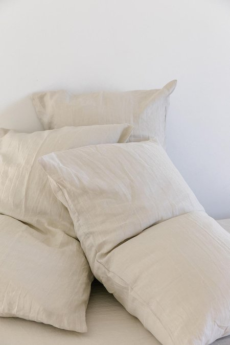 Pampa Linen Pillow Slip Set - Oatmeal