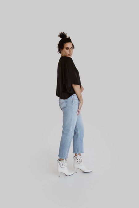 Meçlâ Nina Crop Top in Tencel Twill - Black