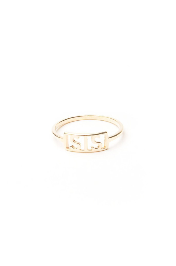 Winden Sis Ring, 14K Yellow Gold