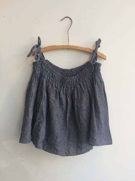 Delphine Cora Top/Skirt - Indigo