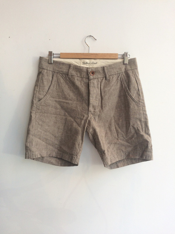 Men's The West is Dead SLIM CHINO SHORTS - TAN CHAMBRAY