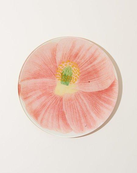 John Derian Simple Pink Poppy 10 Round Plate