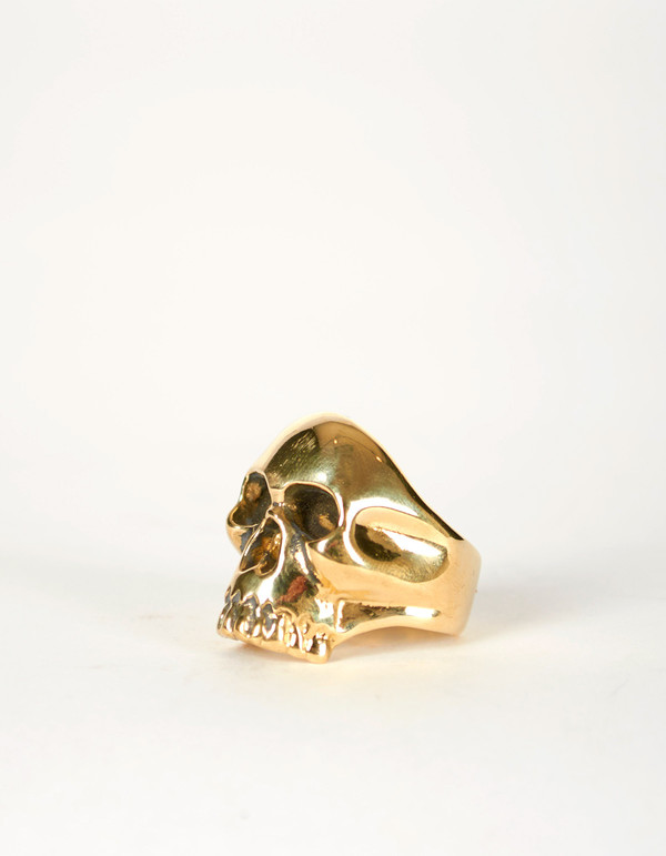 Jon Swinamer Skull Ring Bronze