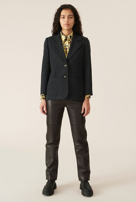 Ganni Suiting Fitted Blazer