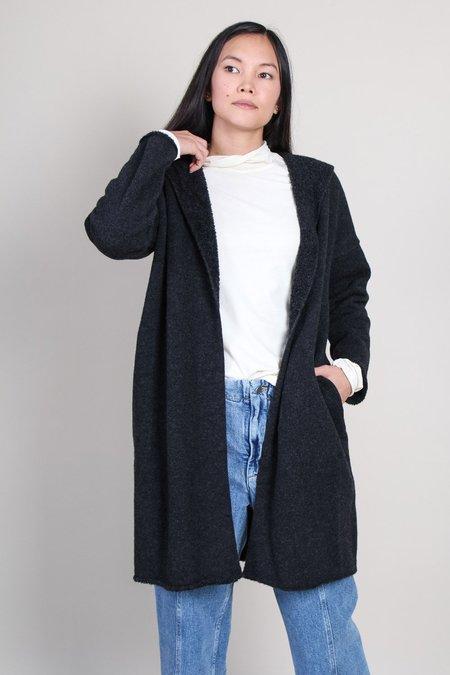Evam Eva Hooded Robe - Charcoal