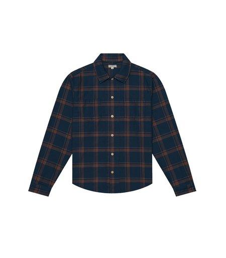 Knickerbocker Flannel Workshirt - Dark Tan/Blue
