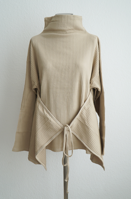 Baserange Lhasa Fleece Rib Top - Khaki