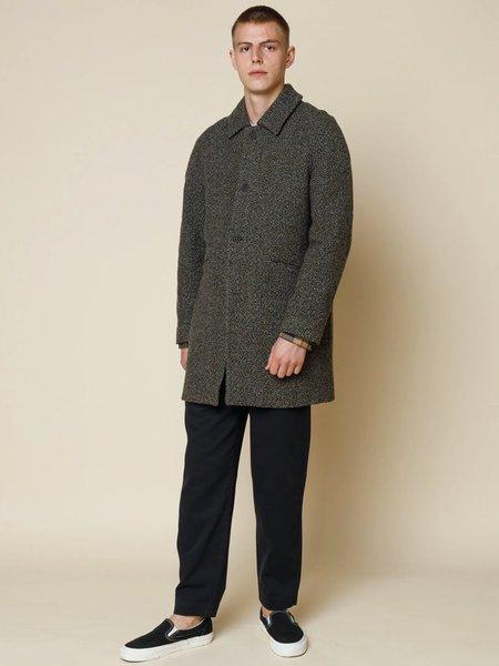 Folk Clothing Clean Car Coat - Stone Moss