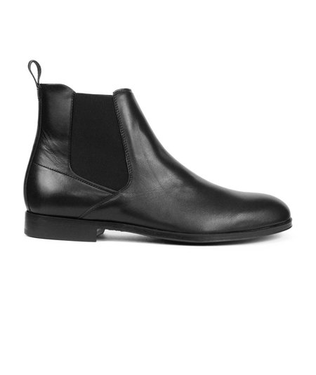 Hugo Boss Hugo Boheme Leather Chelsea Boot - Black