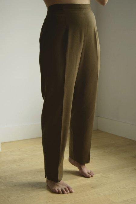 vintage high rise trouser - brown