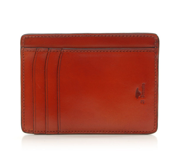 Il Bussetto Burnt Orange Card Case Wallet