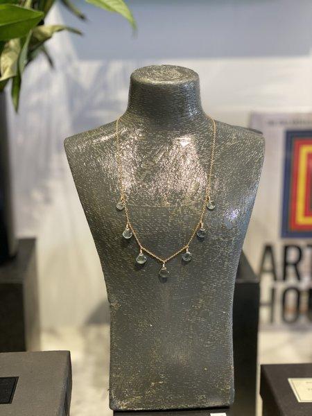 The Loved One Moss Aquamarine Multi Necklace - 14k gold/aquamarine