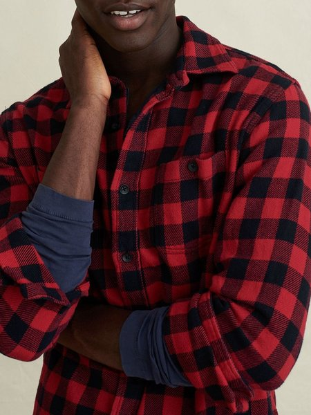 Alex Mill Flannel Chore Shirt - Red