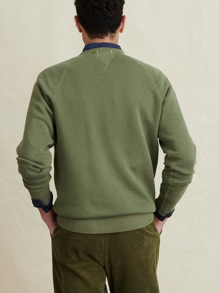 Alex Mill French Terry Sweater - Faded Olive