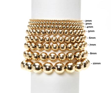Karen Lazar 3mm Filled Orzo Pattern Bracelet - Yellow Gold