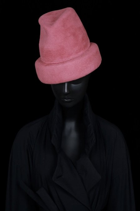 Esenshel SPLIT OVERSIZED CUFF HAT - ROSE