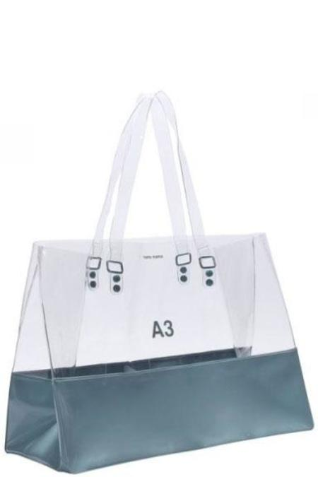 nana-nana A3 Bag - Clear & Blue Grey