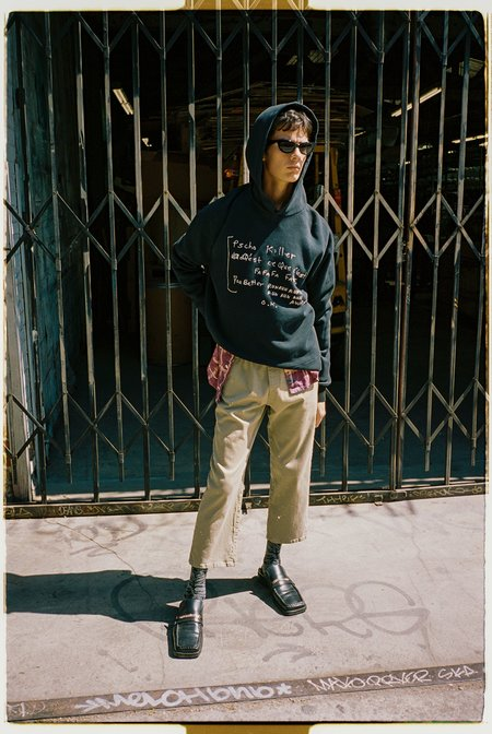 Lost Daze Psycho Killer Vintage Hoodie - Black