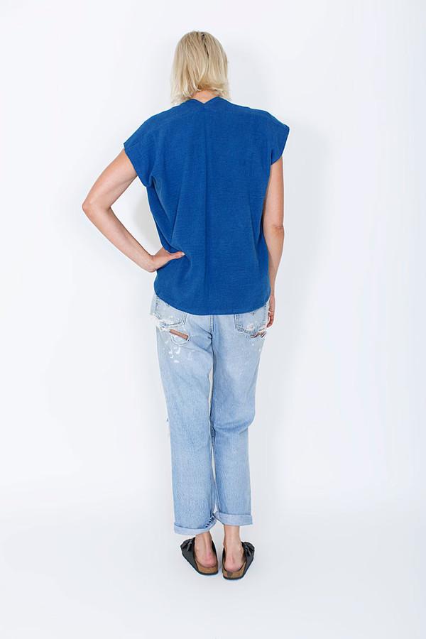 Miranda Bennett In-Stock: Everyday Top, Lined Cotton Gauze in Indigo