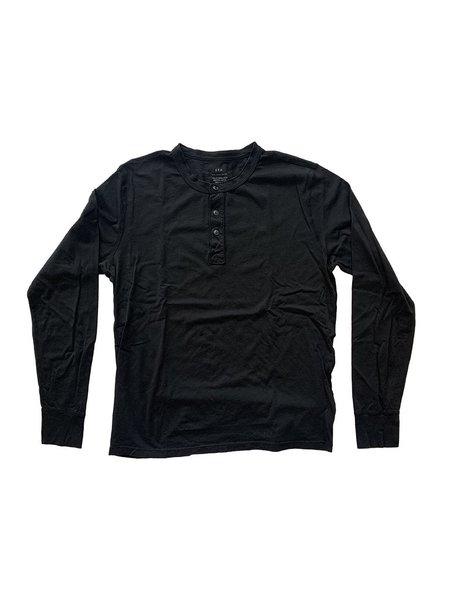 Save khaki United Supima Jersey Henley - Black