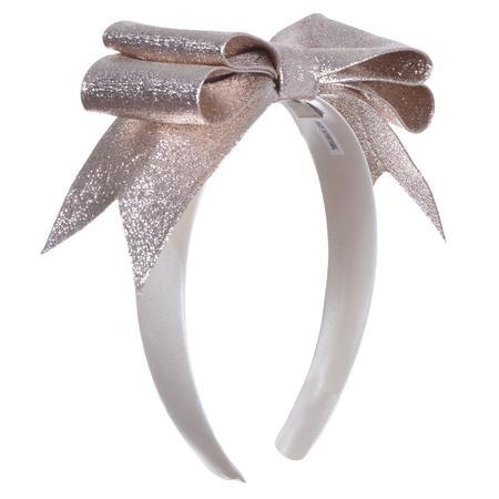 Kids Hucklebones Present Bow Hairband - Platinum