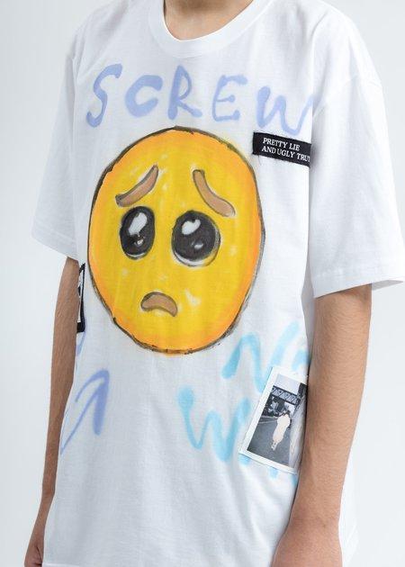 Guernika Emoji Paint T-Shirt - WHITE