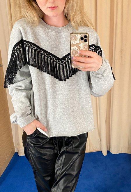 R.G. Kane Fringe Trim Sweater