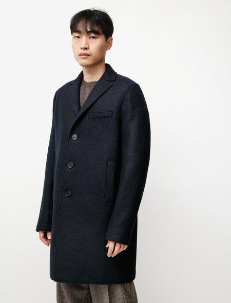Harris Wharf London Boxy Coat Pressed Wool - Blue