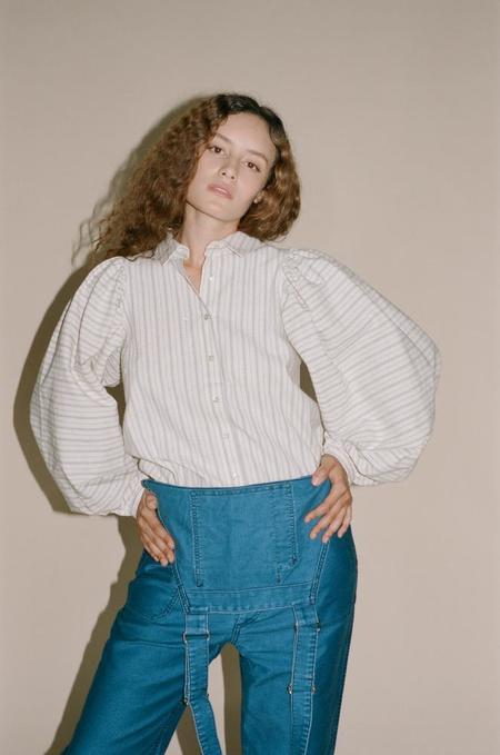 Caron Callahan Alastair Shirt - Ticker Stripe