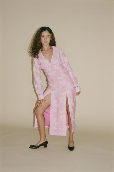 100% SILK Serafina Dress - Orchid