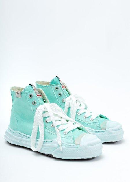 Mihara Yasuhiro Overdyed Original Sole Toe Cap High Top Sneaker - Green