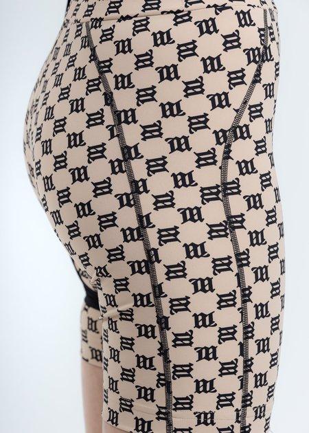 MISBHV High Waisted Biking Shorts - Beige Monogram