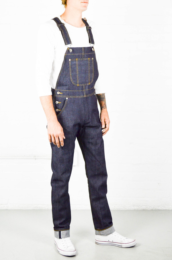 Men's Naked and Famous Left Hand Twill Selvedge Overalls