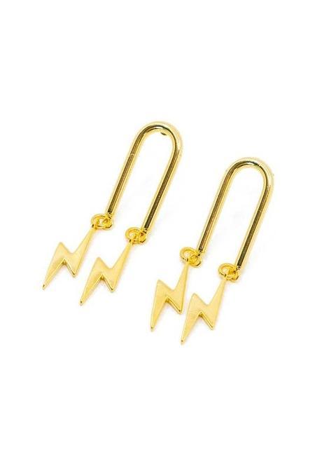T MARKET Flash Earrings - Gold