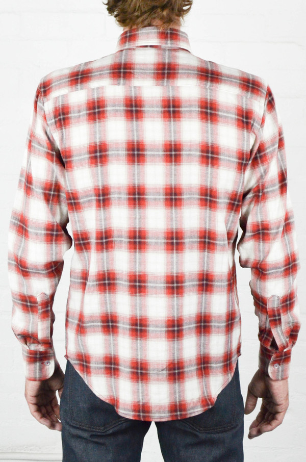 Men's Naked and Famous Ombre Soft Check Regular Shirt