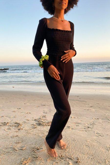 Lisa Says Gah Sophie Long Sleeve Jumpsuit - Obsidian
