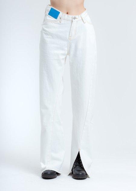 Ann Andelman Lizard Patch Jean - white